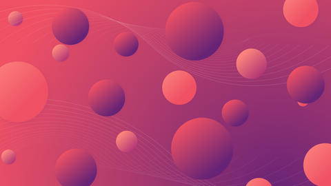 Maroon orange abstract background with circles CG動画