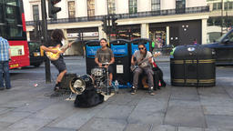 London buskers at The Strand London UK Footage