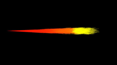 Cartoon Jet Flames on a Black Background Footage