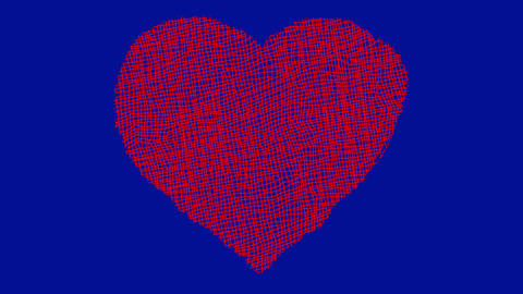 Hand Sketched Cartoon Heart on a Blue Screen Background Live Action