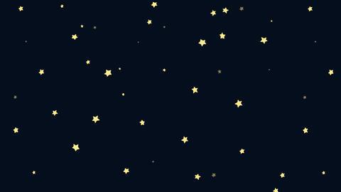Animated Cartoon of Starry Night Footage