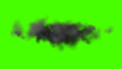 Dark Cloud On a Green Screen Background Footage