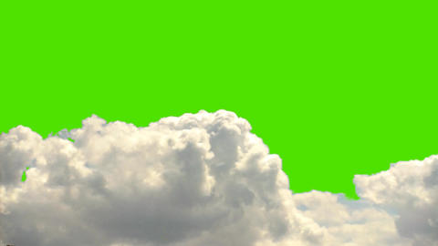 Real Clouds Time Lapse on a Green Screen Background Footage