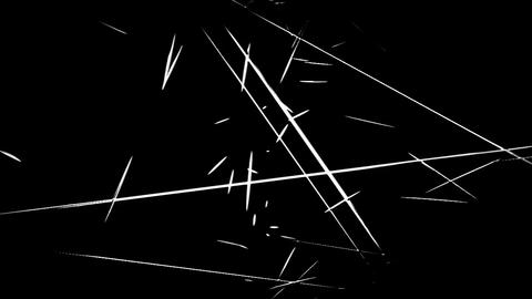 Film Scratches Look and Cuts on a Unique Cartoon Style... Stock Video Footage