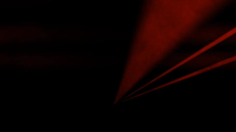Red Laser Beams with Smoke and Fog and Spotlight Effect Live Action
