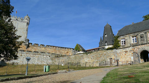 Entrance of Castle Bentheim in Bad Bentheim Live Action