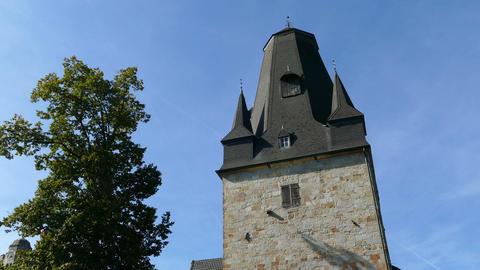Main tower of Castle Bentheim in Bad Bentheim Live Action