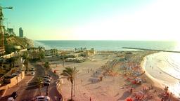 Netanya Beach High Season Time Lapse ビデオ