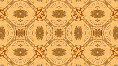 Beautiful and Unique Arabic Style Psychedelic Kaleidoscope of Liquid Gold Shapes Footage