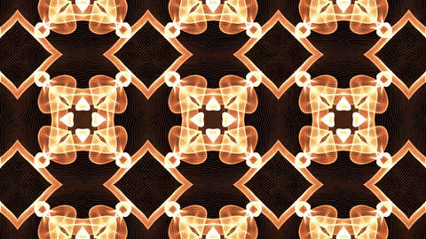 Beautiful and Unique Psychedelic Kaleidoscope of a Golden Brown Mystique Shapes Footage