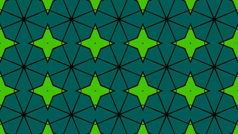 Beautiful Psychedelic Kaleidoscope Patterns Background Looping Footage