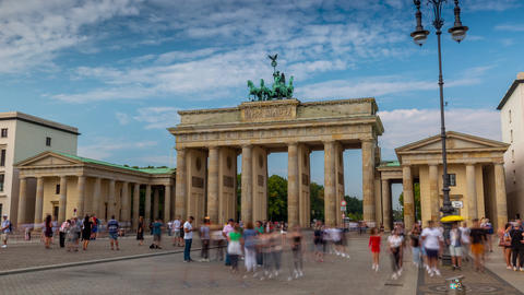 BERLIN, GERMANY - MAY,2019: Timelapse view of of the famous historic monument Live Action