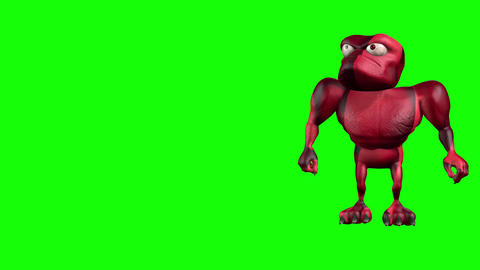 496 4k 3d animated ugly monster or red bacteria sneekely trying penetrate inside Animation