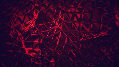 Red Polygon Triangles Animation