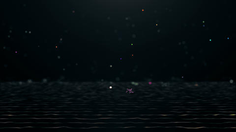 Falling Particles of Various Colors Animation