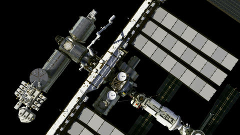 Flight Of The International Space Station. Alpha Matte GIF
