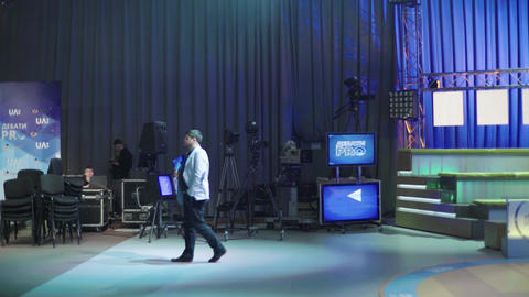 Recording TV shows in a TV studio Live Action