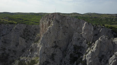 Front view from above the famous pride of Crimea - Ai-Petri mountains in sunny Live Action