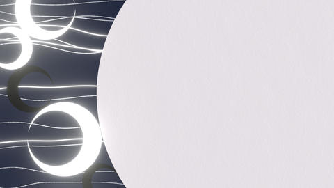 Elegant Moon Background CG動画