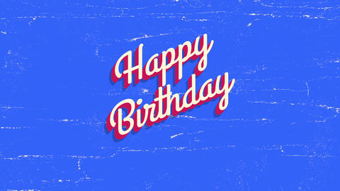 Animated closeup Happy Birthday text on holiday background Stock Video Footage