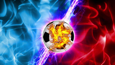 VS Soccer Ball versus fight UI fire loop animation Animation