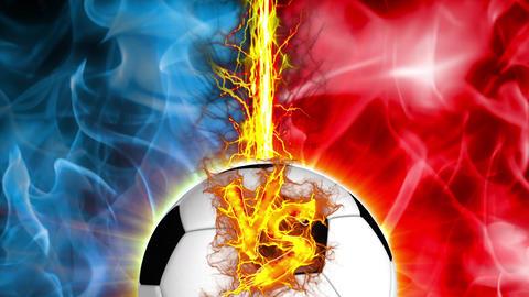 VS Soccer versus fight UI fire loop animation Animation