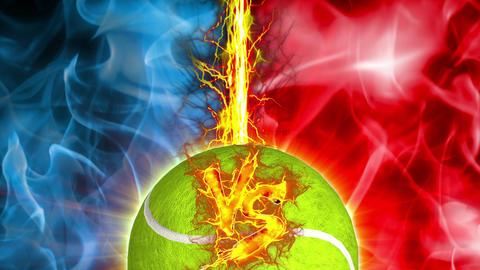 VS tennnis Ball versus fight UI fire loop animation Animation
