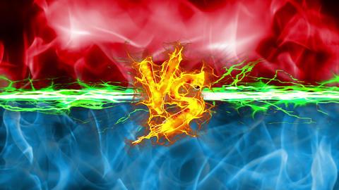 VS versus fight UI fire loop animation Animation