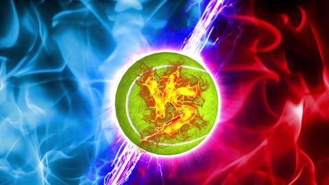 VS tennis Ball versus fight UI fire loop animation Animation