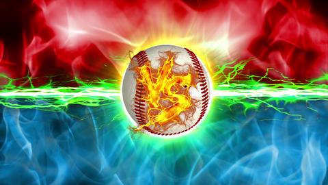VS Base Ball versus fight UI fire loop animation Animation
