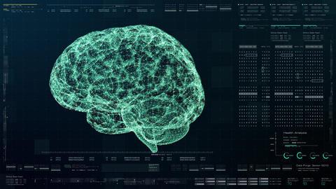 Head Up Display of Advance Human Brain Biomedical Diagnostic Animation