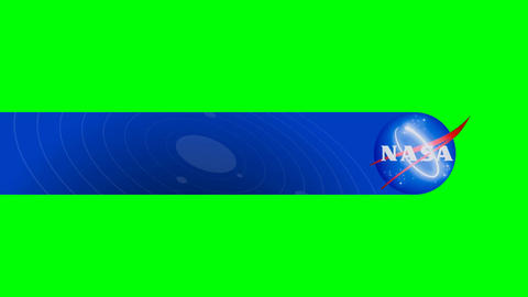 Space Agency Lower Third on a Green Screen Background Live Action