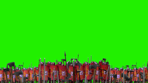 Roman Legion Battle Formations Standing In Front of an…, Live Action