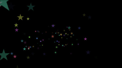 Beautiful Colorful Stars Falling in a Black Background Footage