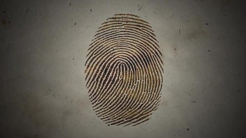 Various Fingerprints Running on an Old Paper Live Action