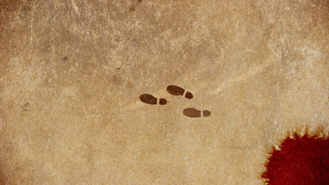 Murderer Foot Steps Walking Away From Crime Scene Live Action