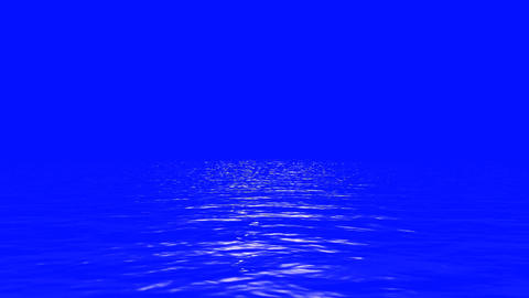 Water Reflection on a Blue Screen Live Action