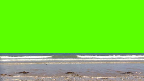 Ocean with Waves On a Green Screen Background Footage