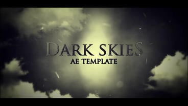 DARK SKIES ( cinematic titles intro ) After Effects Project