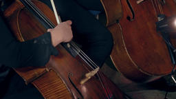 1080p Cellist Playing / Violoncellist Playing / Orchestra Musician Footage