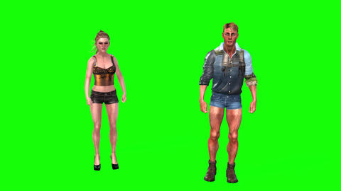 497 4k 3d animated young woman and man street dance Animation