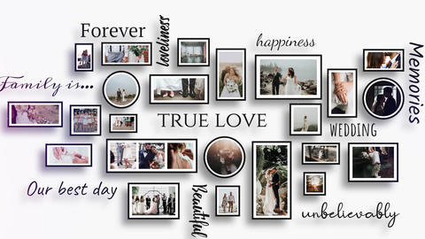 Romantic Wedding Memories Slideshow Premiere Pro Template