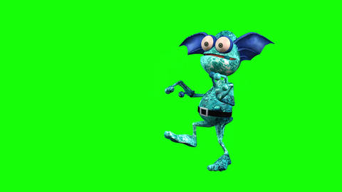 495 4k 3d animated ugly monster craftely trying penetrate inside Animation