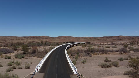 Big modern road in Africa, beautiful blue sky, sunny day, no traffic Live Action