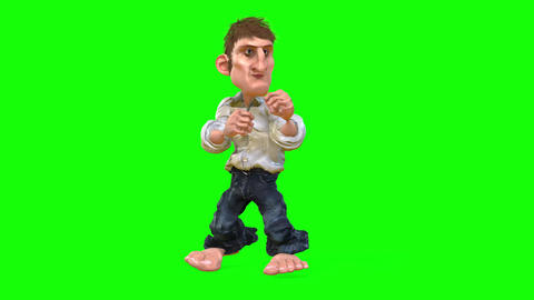 519 4k 3d animated cartoon man boxes and teaches how Animation