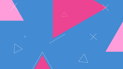 Simple looped background with geometric shapes, Stock Animation