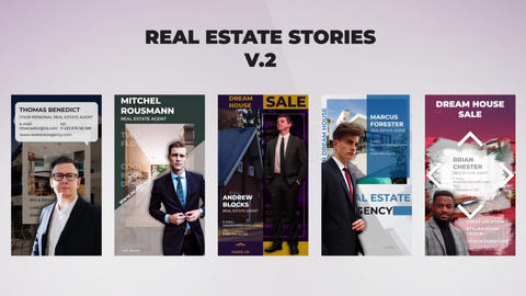 Real Estate Stories v 2 After Effectsテンプレート