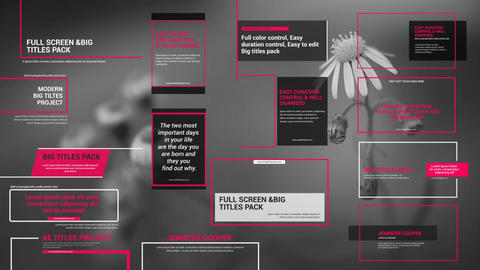 Big Titles Pack Motion Graphics Template