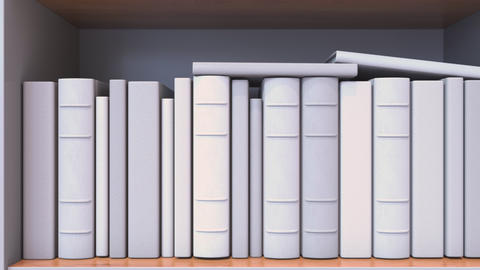 Spines of books compose flag of Luxembourg. Luxembourgian culture or science Live Action