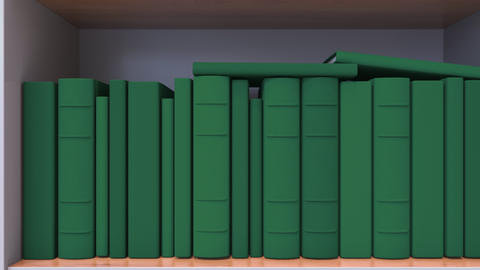 Many spines of the books form the Lithuanian flag. Education or science in Live Action
